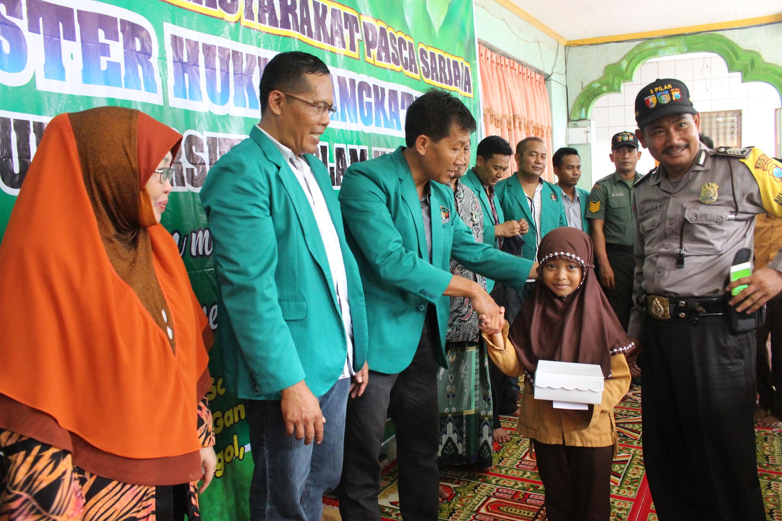 Pengabdian Masyarakat Magister Ilmu Hukum angkatan XVI di Pondok Pesantren Al Huda Grogol Kota Kedir